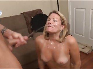 11 Whores take a Cum Bath