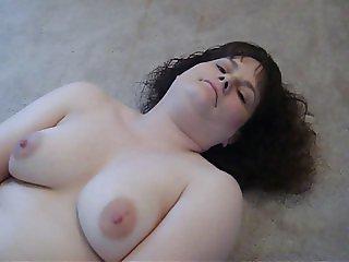 Chubby Wife Fucks Big Dildo