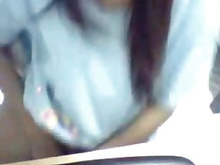 Thai girl getting naked showing pussy on webcam