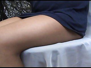 crossdresser Erica pantyhose legs 1