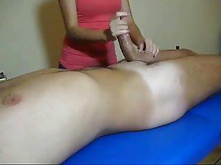 Massage parlor cfnm handjob