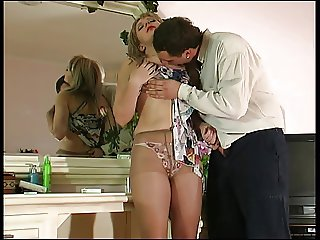 Hot Blonde Gets Fucked In Nude Pantyhose