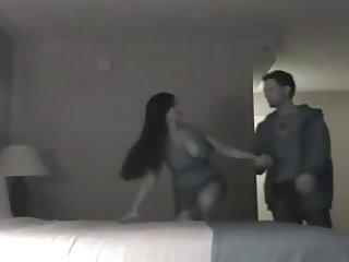 Hidden couple Rough sex