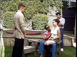 Fucking woman in a garden