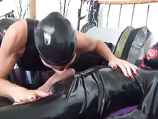Best of Brazen Latex Alex sucks cock