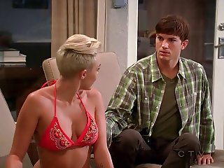 Miley Cyrus In Bikini Two And A Half Men