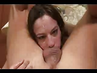 Horny slut having a deep throat