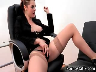 Horny perverted secretary with nice part1