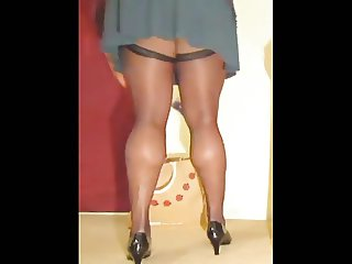 TGirl Upskirt Stocking Tops 320