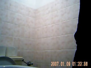 Sexy young girl spied on toilet 1