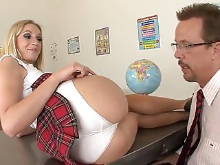 sexy schoolgirl fucks the teacher