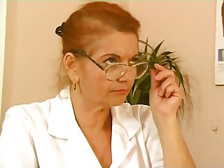 German Busty Granny Doctor