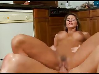 Naughty Spanish Housewife Fucks In The Kitchen