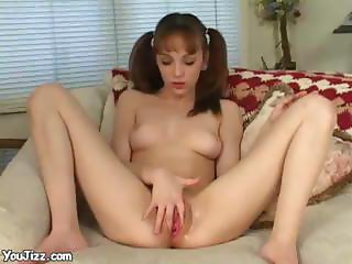 Amazing Teen Charlie Masturbate And Fucking Pussy With Big Vibrator