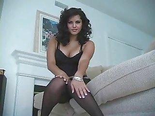 Beautiful in black tights