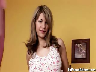 Hot blonde babe gets horny stripping part2