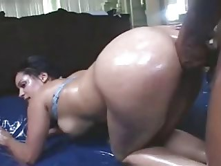 jazmine oiled up for BiG BlacK CocK