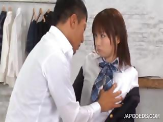 Asian pussy rubbed and fingered