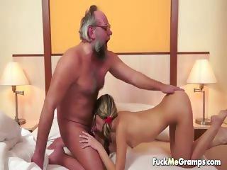 lucky old bastard bangs lovely girl