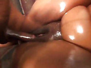 Thick ass oiled up bbw