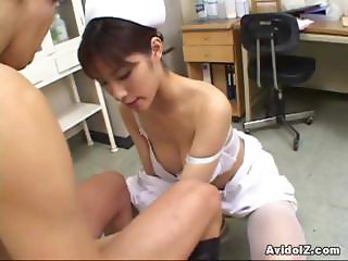 Horny Nurse Riko Tachibana big blowjob with cum swallow