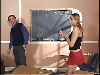 Horny teacher bangs a hot schoolgirl