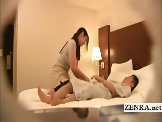 Subtitled Japanese milf masseuse indecent hotel massage