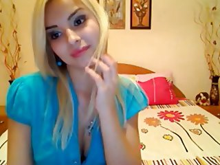 hot blonde on webcam