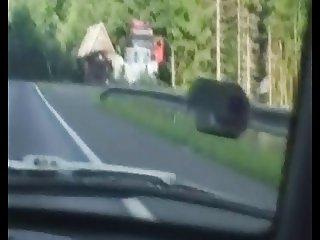 Czech whore sex in car II.