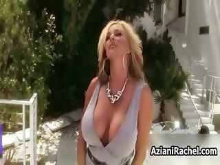 Sexy blonde milf goes crazy dildo part5