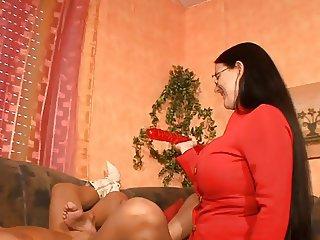 3 horny german moms having fun with a dildo