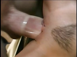 Beautiful young slut gets deep drilling in tight pussy on a couch