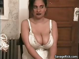 Hot busty big boobed horny babe gets part1