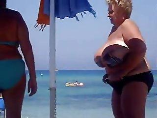 Huge Granny Beach