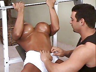 Sweaty Couple Fucking In Gym.