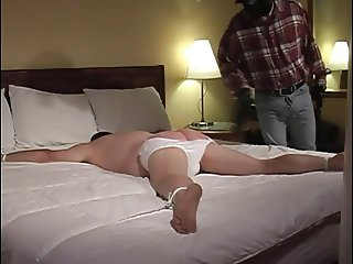 Sexy gay guy getting bound and teased