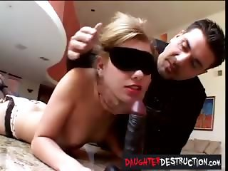 Cute girl mouth and anal fucked hard