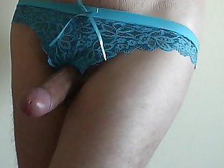 Jerking off in her panties how sweet