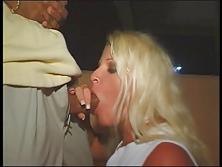 Horny blonde gets her mouth fucked with guy 039 s big cock