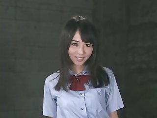 Dirty schoolgirl Yuka Osawa enjoys swallowing