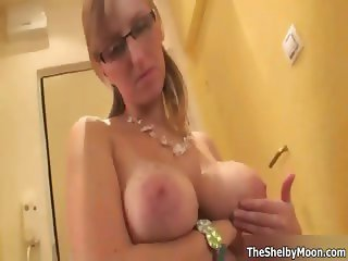 Nasty blonde milf gets horny playing part6