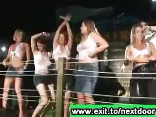 Many hot drunk next door girls Australian Disco