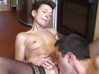 guy Cums Home For Dinner