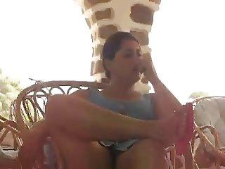flashing arab tunisian woman beurette