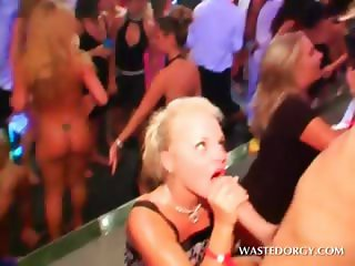 Party blonde hooker shows her dick sucking skills