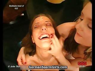Nasty brunette sluts get horny getting part5
