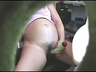 Pregnant dildo hairy pussy
