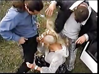 Head Shaving 3 Way With Cranial Cumshot