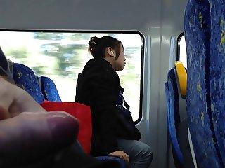 Cum on train