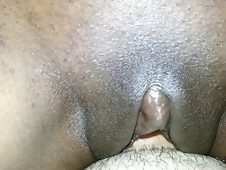 Haitian wife riding white cock